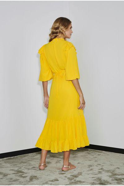 Vestido-Longuete-Babados-Amarelo