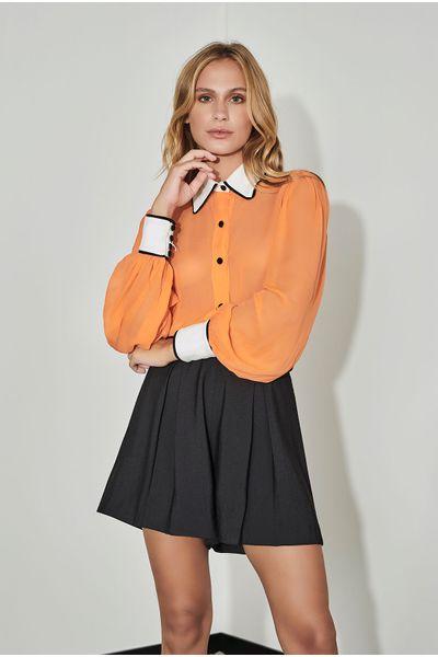 Camisa-Georgete-Laranja