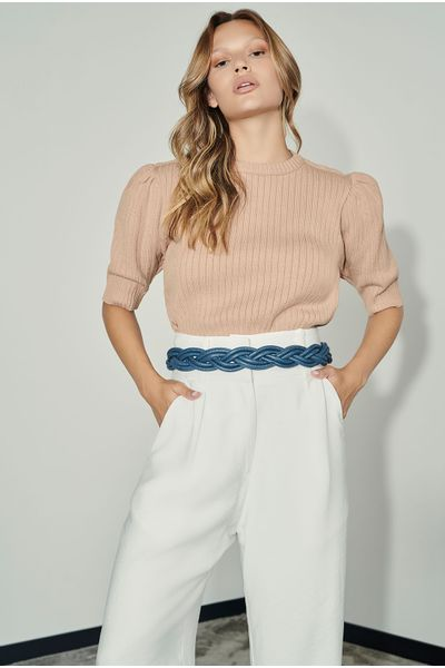 Cropped-Canelado-Puff-Bege