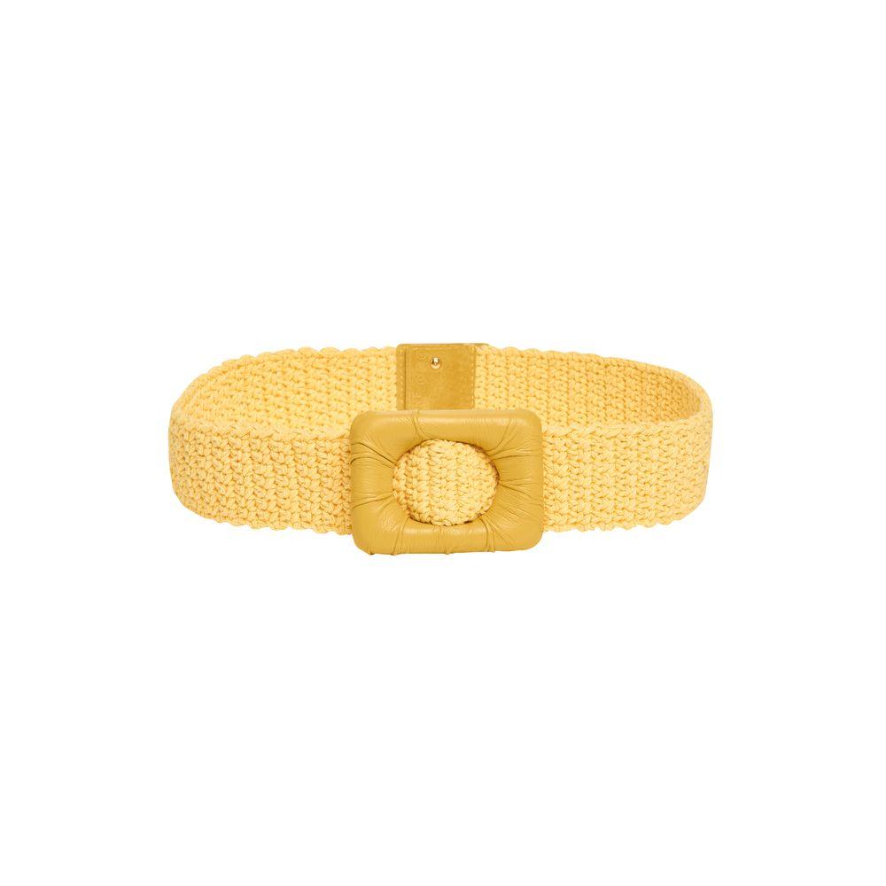 Cinto Crochet Amarelo 85