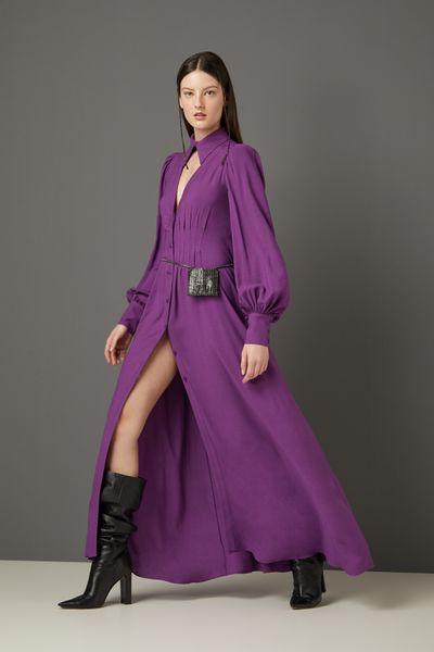 Vestido-Chemise-Roxo