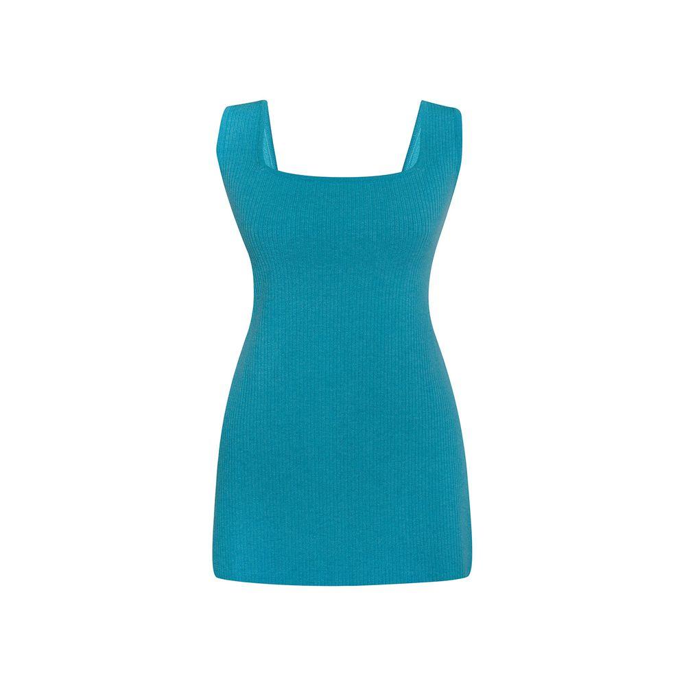 Vestido Quadrado Azul PP