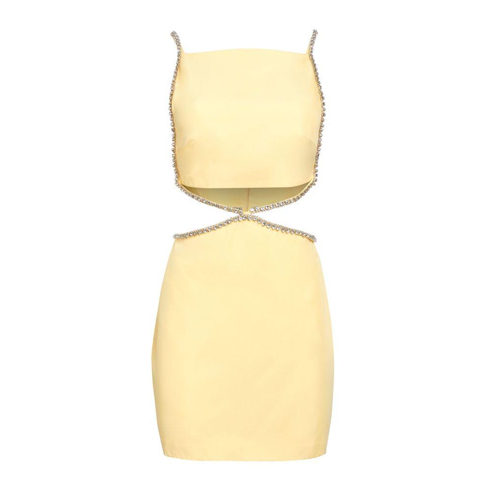 Vestido Strass Manteiga 34