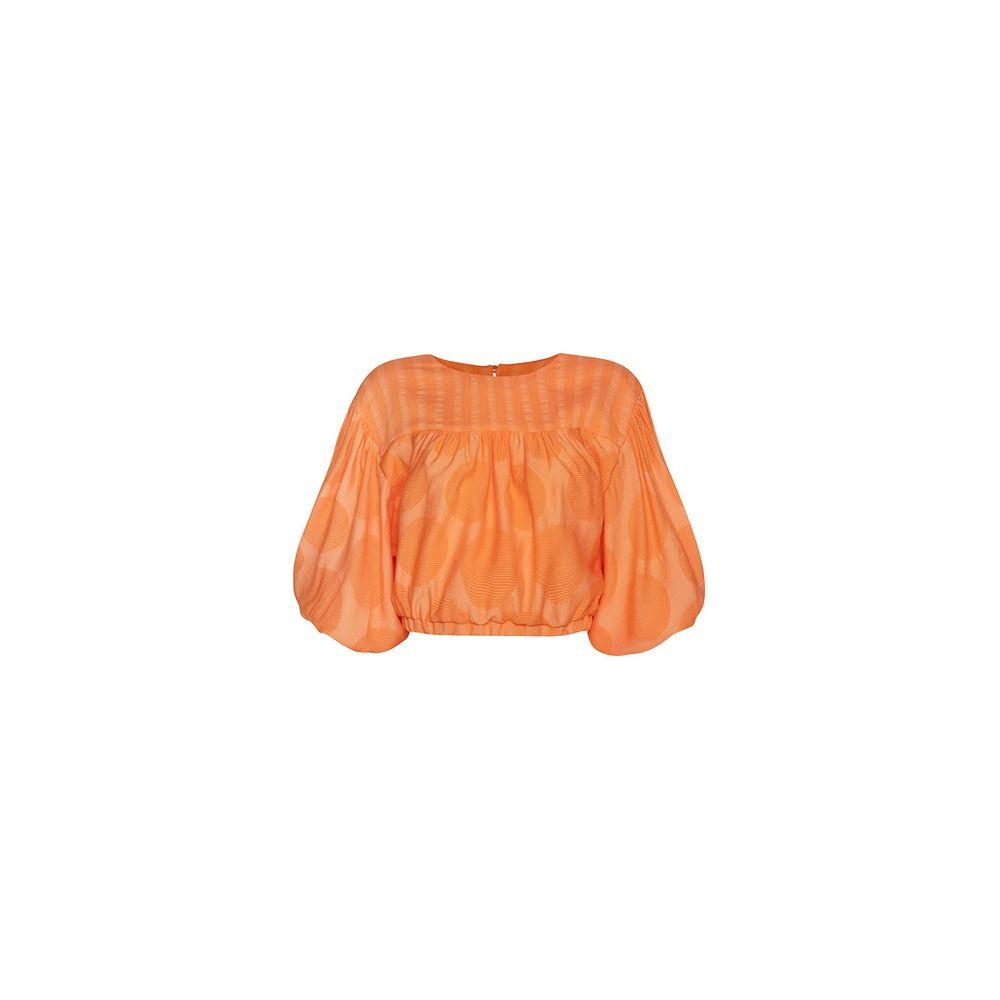 Blusa Puff Compose Coral 36