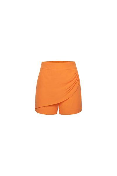 Short-Saia-Franzido-Coral