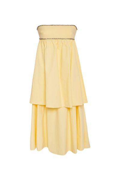 Vestido-Babados-Manteiga
