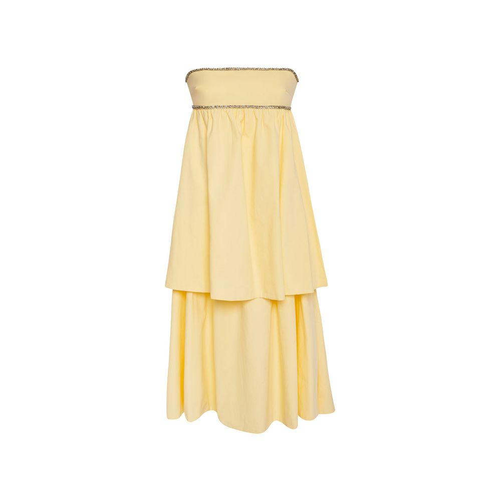Vestido Babados Manteiga 36