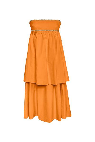 Vestido-Babados-Coral