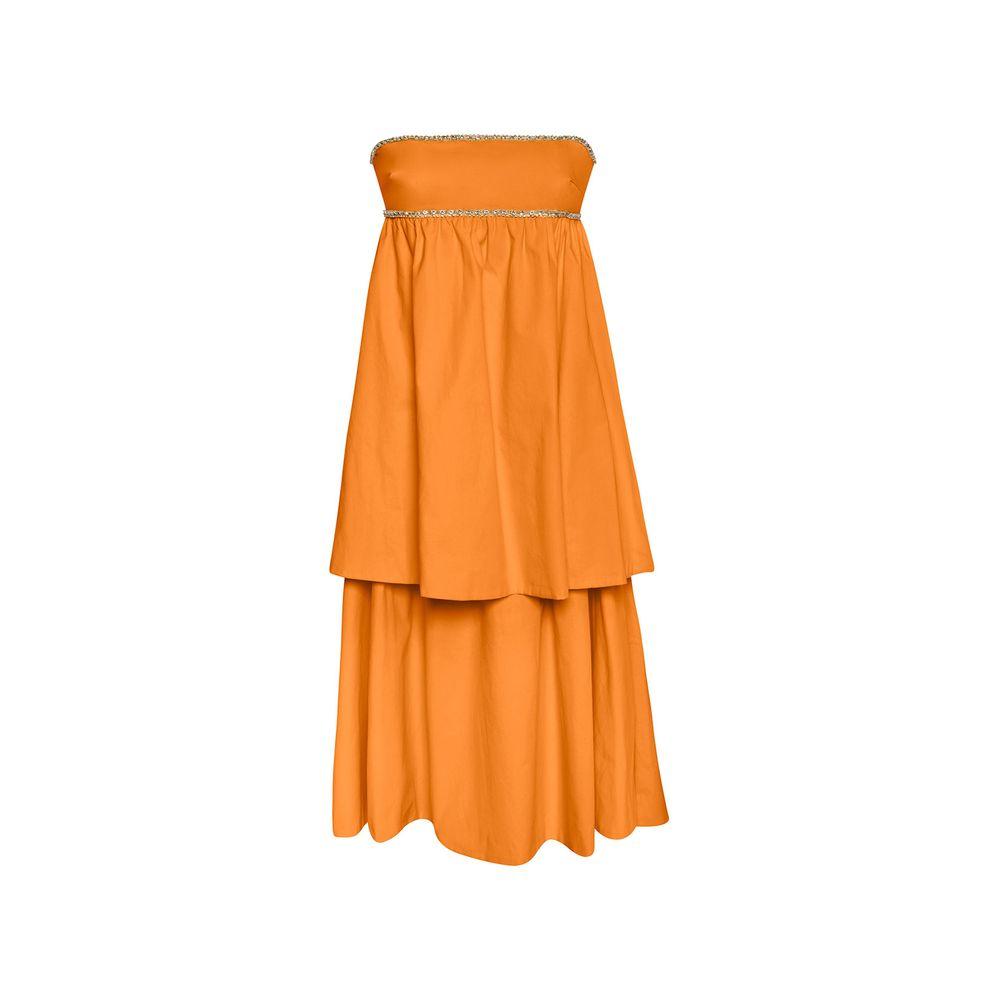 Vestido Babados Coral 36