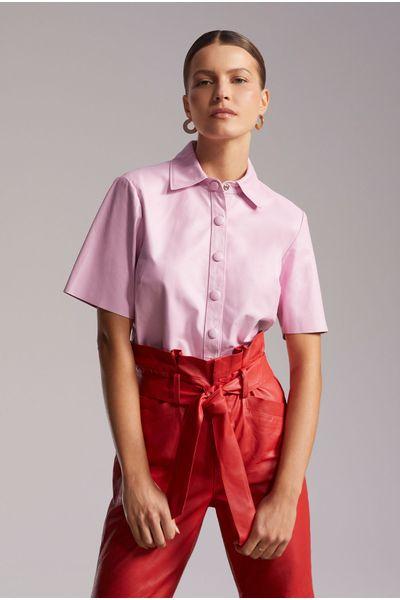 Camisa-Lucia-Couro-Rosa