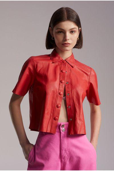 Camisa-Lucia-Couro-Vermelha